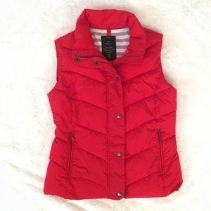 GAP Red Puffer Vest